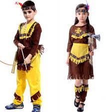 native american costume wild west child boys girls indian cowboy