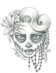catrina dead colouring pages projetos