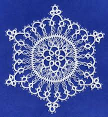 hair pin lace lenore s snowflake in tatting and hairpin lace