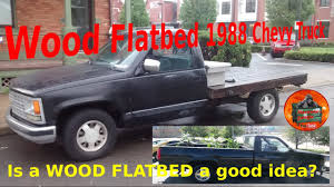 wooden truck bed wood flatbed how long do they last diy flatbed 1988 chevy truck