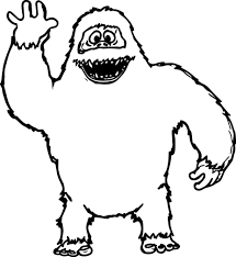 abominable snowman hello coloring page wecoloringpage