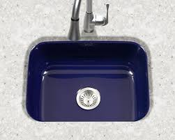 Blue Kitchen Sink Houzer Porcelain Enameled Steel Kitchen Sinks