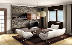 extraordinary blue wall painting and white leather sofa also dark