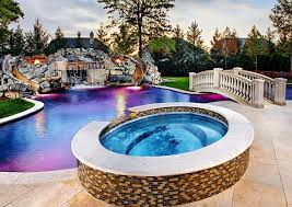 Pool Designs For Backyards Breathtaking Pool Waterfall Design Ideas