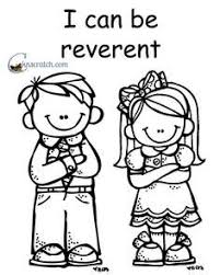 coloring pages for nursery lds behold your little ones lesson 20 i will be reverent nursery