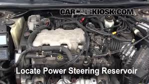 follow these steps to add power steering fluid to a chevrolet