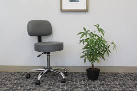 boss grey caressoft medical stool w back cushion u2013 bosschair