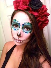 day of the dead headband handpainted sugar skull la catrina umylia my smart