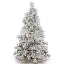6 5 ft frosted tree wayfair