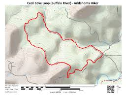 Buffalo Creek Trail Map Cecil Cove Trail Loop Buffalo River 6 Mi Arklahoma Hiker
