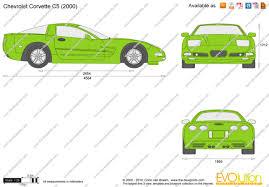 c5 corvette dimensions the blueprints com vector drawing chevrolet corvette c5