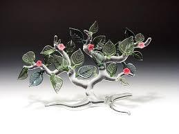 springtime tree by bandhu dunham glass sculpture