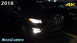 At Night 2018 Jeep Compass Interior U0026 Exterior Lighting