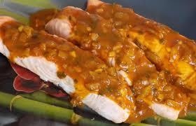 cuisiner pavé saumon pavés de saumon sauce créole recette dukan pp par fanie37