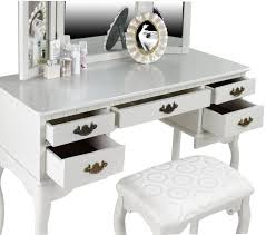 White High Gloss Bedroom Furniture by Modern White High Gloss Finish Wooden Makeup Vanity Table With