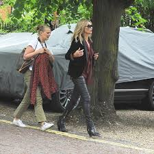 kate moss is flanked by crew at george michael u0027s house daily