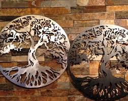 tree of life home decor metal tree of life etsy