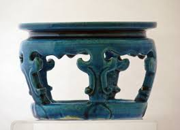 Vase Stands Kangxi Turquoise Ground Bowl Vase Stand Catherine Hunt