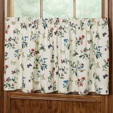 audrey floral butterfly tier window treatment