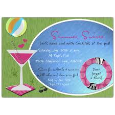 cool cocktails pool invitations paperstyle