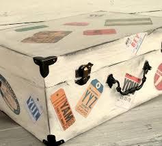 wedding wishes card box wedding wish card box luggage tag vintage style suitcase wood