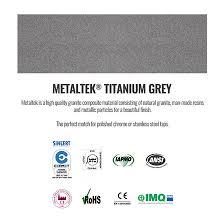 Reginox Ego   Bowl Titanium Grey Granite Composite Kitchen - Kitchen sink titanium