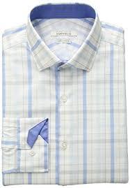 perry ellis portfolio men u0027s slim fit performance plaid dress shirt