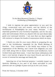 thanksgiving letter for hospitality as the synod closes the road ahead u2013 catholic philly