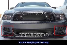 Mustang Gt 2014 Black Fits 2013 2014 Ford Mustang Gt Black Fog Light Billet Grille
