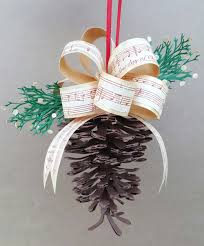 paper winter swag and pinecone ornament pazzles craft room