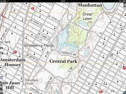 Map Central Park Topo Maps About Us Topo Maps