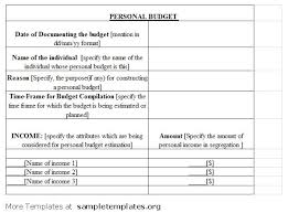 best photos of free personal budget template printable personal