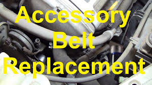 how to change the serpentine accessory belt on a nissan maxima