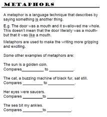 worksheets simile metaphor personification worksheet opossumsoft