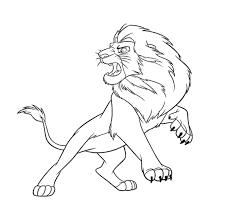 à imprimer personnages célèbres walt disney le roi lion numéro
