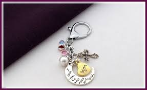 personalized birthstone keychains s day gift women s silver or gold heart keychain popular