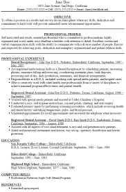resume exles for dental assistants dental assistant resume exles paso evolist co