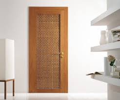 Designs For Homes Interior Modern Interior Swing Door Featuring A Cherry Wood Lattice Hinged