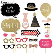 photo booth supplies lincaier 20 pieces happy birthday photo booth props party