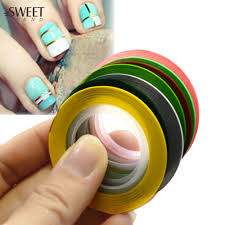 popular colored tape nails buy cheap colored tape nails lots from