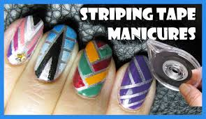 striping tape manicure nails design youtube