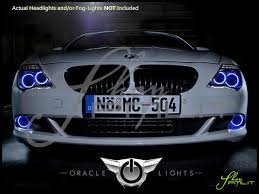 Led Light Bulbs For Headlights by 08 10 Bmw 6 Series Led Dual Color Halo Rings Headlights Bulbs