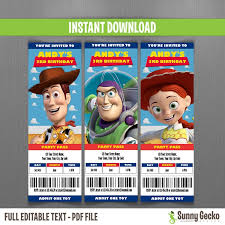 design printable personalised toy story birthday invitations