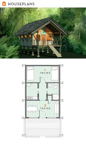 off grid jungle shelter plan 556 4 384sft tiny house plans