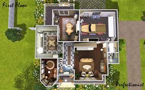 mod the sims october ii floor plans these house sleeps up to 6 sims but was made for 3 5