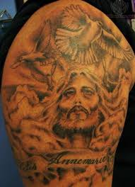 53 adorable religious shoulder tattoos