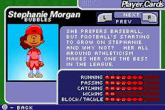 Backyard Sports Football Stephanie Morgan Backyard Sports Video Game Character Profile