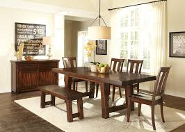 dining room set with bench with back bench decoration