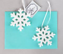 porcelain snowflake ornament favors