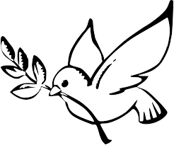 dove peace black white line art christmas xmas peace on earth
